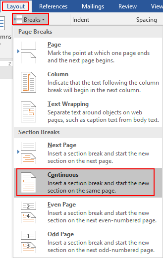 How to Set Different Headers on Different Pages in Word