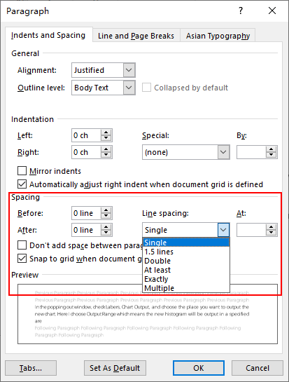 How to Set Line Spacing in Word