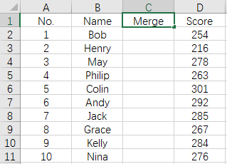 How to Combine the Content from 2 Columns in Excel