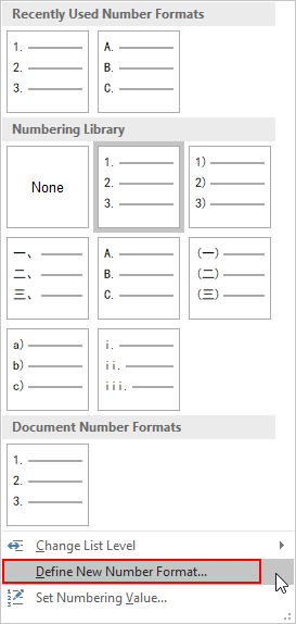 How to Autofill the Table with Numbered List in Word