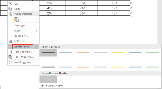 2 Methods to Change the Color of Table Borders in Word