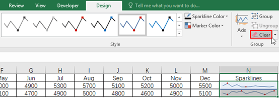 How to Insert Sparklines into Excel Cells