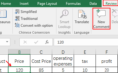 How to Insert Comments to Specific Cells in Microsoft Excel