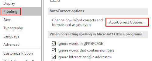 How to Stop the Automatic Capitalizing of the First Letter in Word