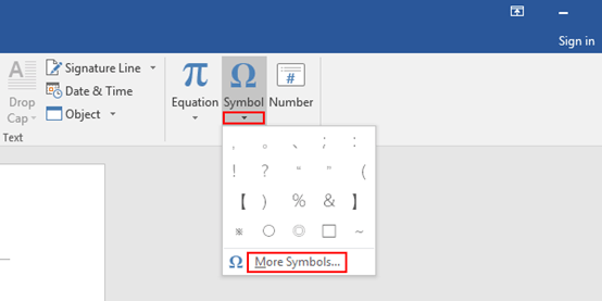 How to Insert a Copyright Symbol in Word 2016