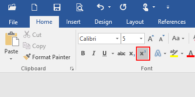 How to Insert a Superscript or Subscript in Microsoft Word