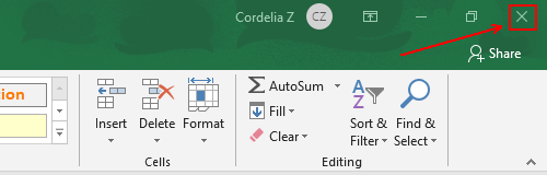 2 Methods to Close All the Active Excel Workbooks at Once