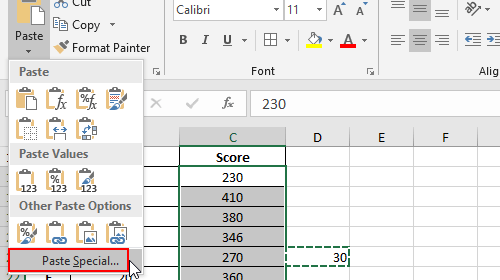 How to Add a Number to All Cells in Excel