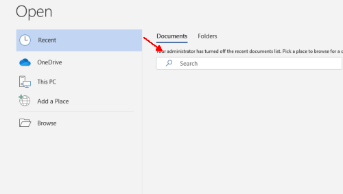 How to View and Delete the Recent Documents History in Office Apps