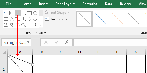 How to Make a Table Header with 2 Slashes in Excel