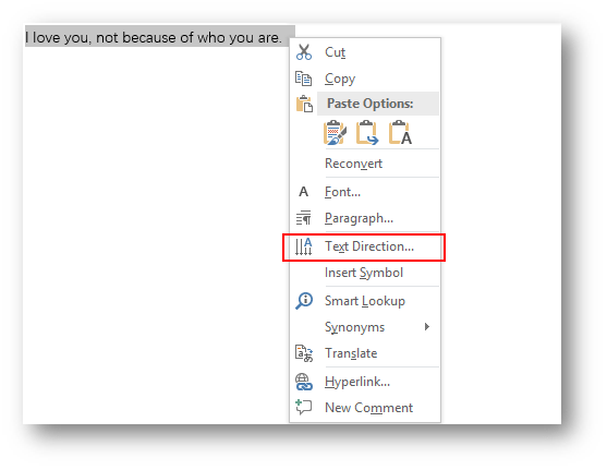 How to Set Text Direction in Microsoft Word