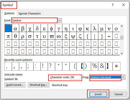 How to Insert a Mean Symbol in Microsoft Word