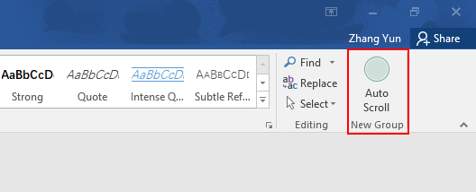 How to Set Automatically Scrolling in Microsoft Word