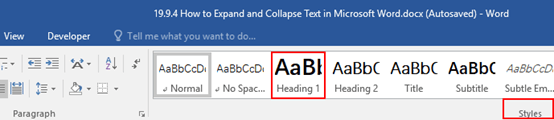 How to Expand and Collapse Text in Microsoft Word