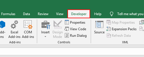 How to Add the Developer Tab to MS Excel Ribbon