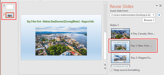 How to Reuse Slides from A Ready-made Presentation in PowerPoint
