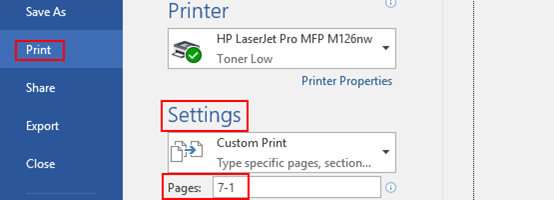 2 Methods to Print Pages in Reverse Order in MS Word