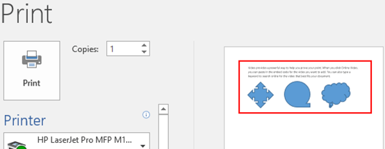 Unable to Print Shapes in MS Word? Here is a Simple Tip