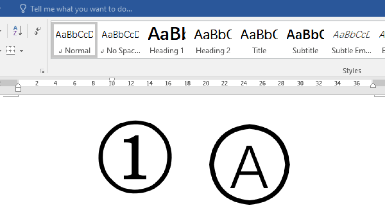 30 Methods to Insert Circled Numbers and Letters in Word   My ...