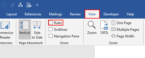 How to Enable Horizontal and Vertical Ruler in Word