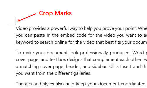 How to Remove Right Angles (Crop Marks) in Word Document