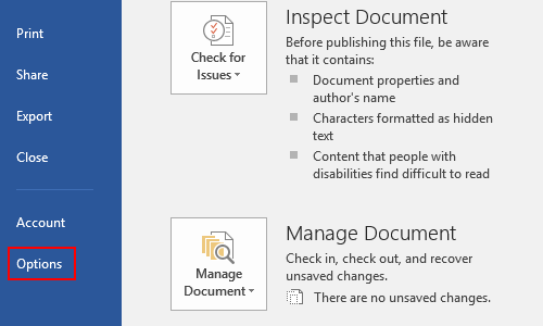 How to Set Auto Save in Microsoft Word
