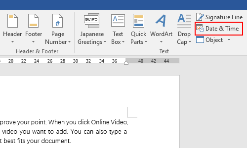 How to Insert Date & Time in Microsoft Word Document