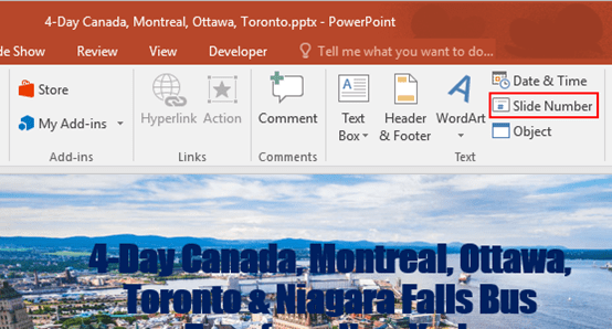 How to Insert Page Numbers to PowerPoint Presentation