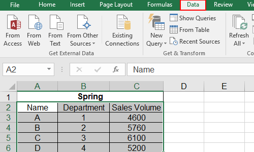 How to Fold Specific Rows or Columns in Microsoft Excel