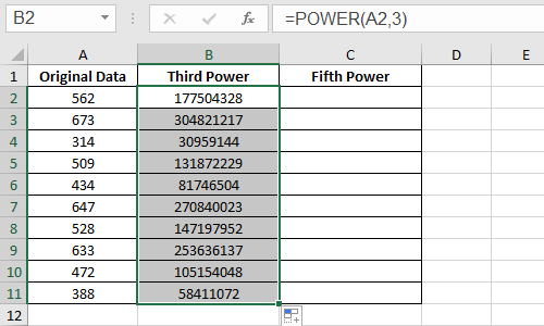 How to Do Calculations with Power Function in Microsoft Excel