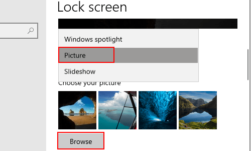 How to Change Lock Screen Picture on Windows 10