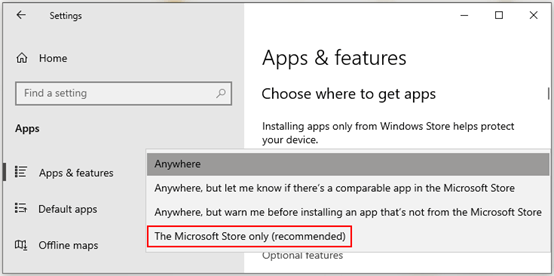 How to Install Apps Only from Windows 10 Store