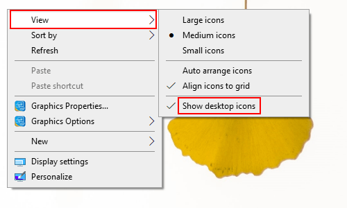 How to Hide or Show Desktop Icons on Windows 10