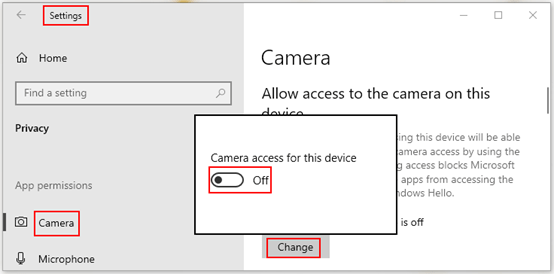 How to Disable Camera on Windows 10