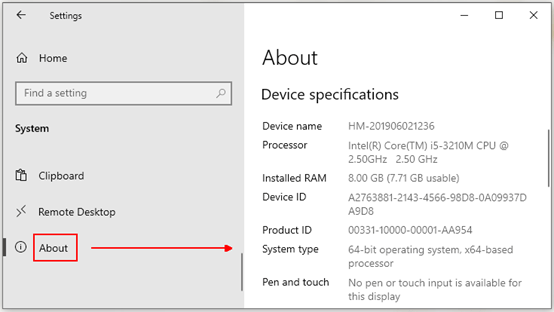 How to Find Device Specifications on Windows 10