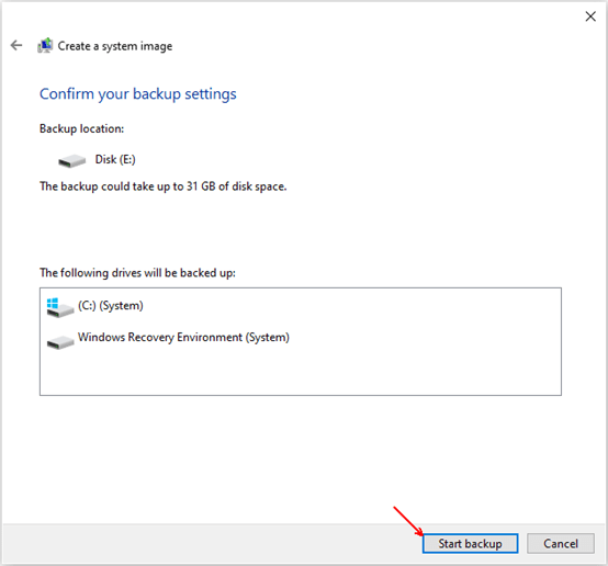 How to Backup Your System on Specified Disk in Windows 10