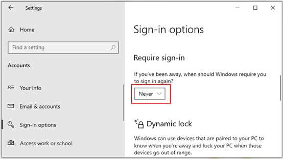 How to Disable Password Prompt on Wake up Windows 10
