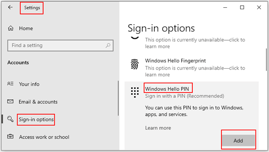 How to Create a PIN to Your Account on Windows 10