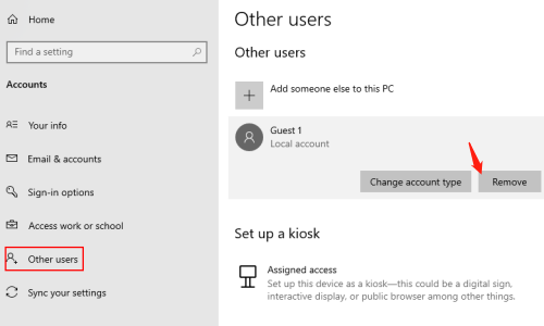 How to Delete Unwanted Accounts on Windows 10