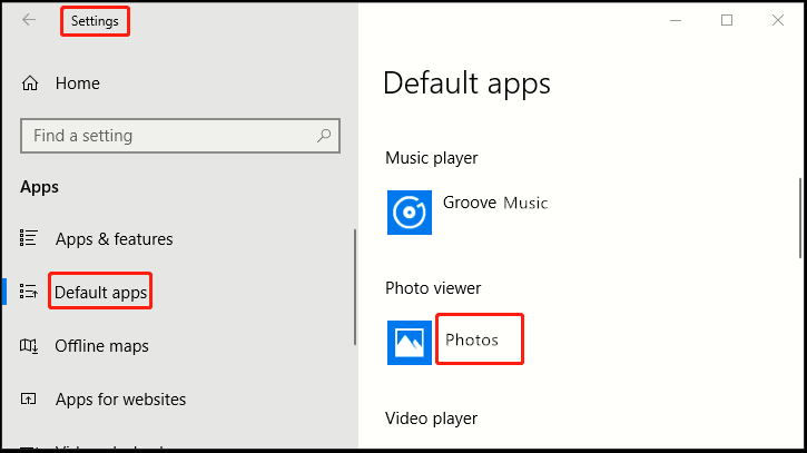 How to Set Default Photo Player in Windows 10