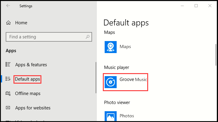 How to Set Default Music Player in Windows 10
