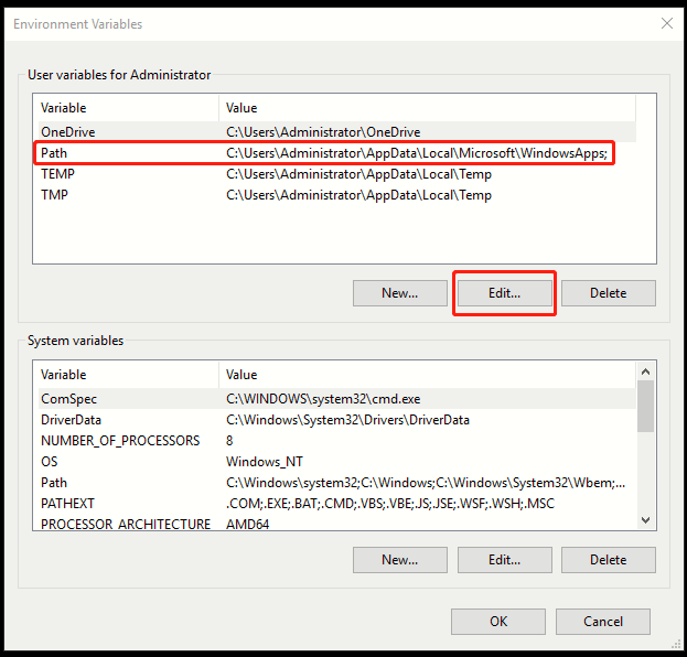 How to Edit Environment Variables in Windows 10