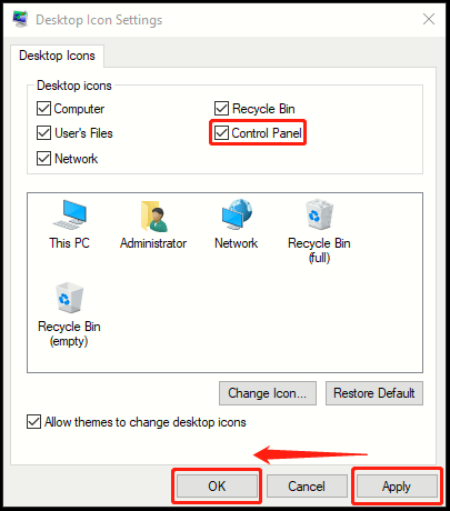 How to Create Desktop Icon of Control Panel in Windows 10