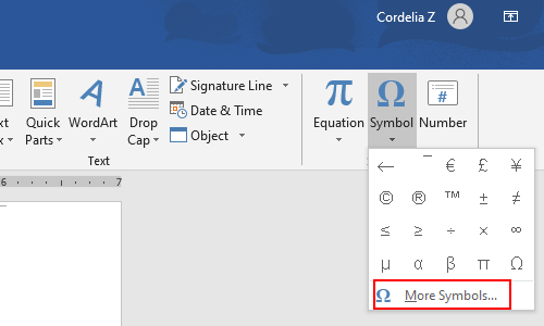 How to Insert Greater than or Equal to Symbol in Word and Excel