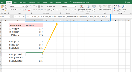 How to Separate Numbers and Text From a Cell In Excel