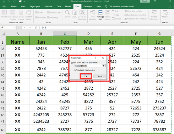 How to Freeze The First And Last Row in Excel?