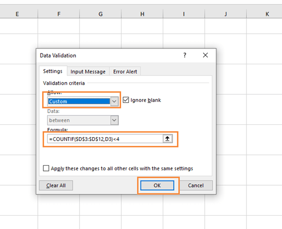 How to Control the Number of Times the Same Content Is Entered in an Excel Cell?