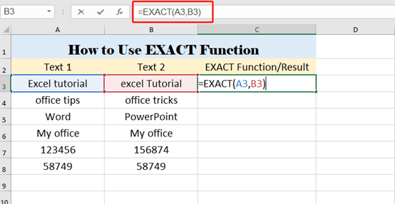How To Use EXACT Function In Excel—Simple Tutorial