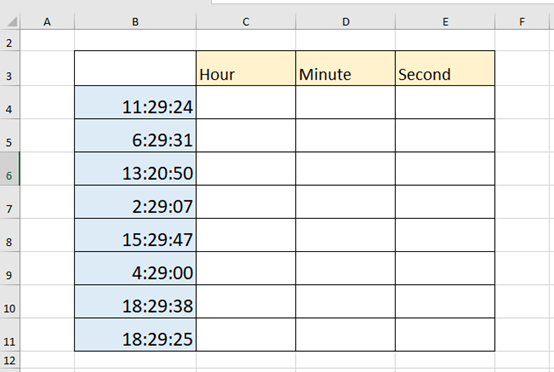 How to Extract Hours/Minutes/Seconds from Time in Excel