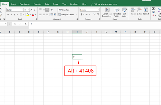 How to Enter An '±' Sign in Microsoft Excel
